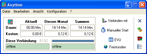 Screenshot vom Programm: Anytime